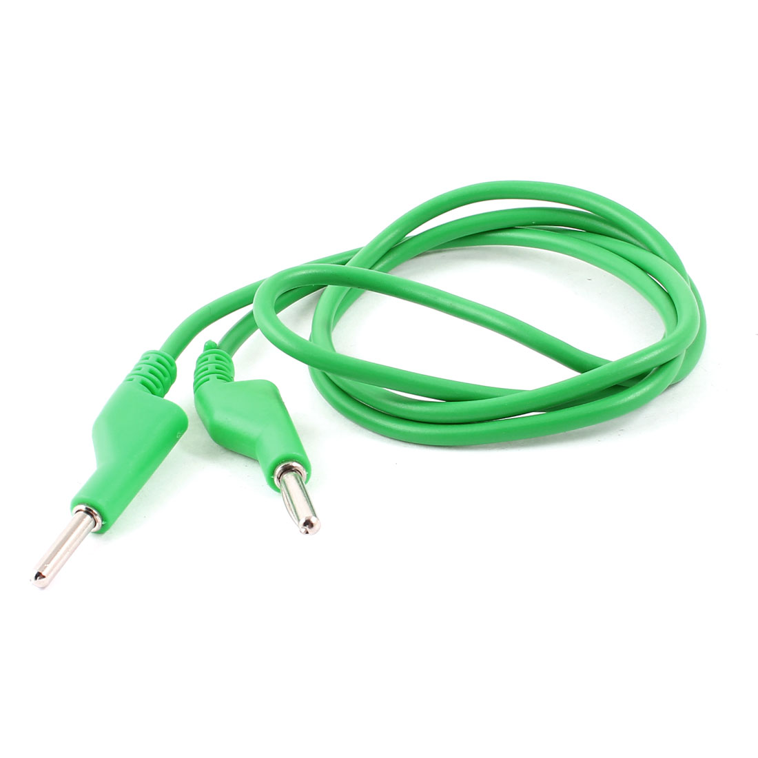 Physics Lab Multimeter Dual 4mm Banana Connector Probe Test Cable 1M Long Green