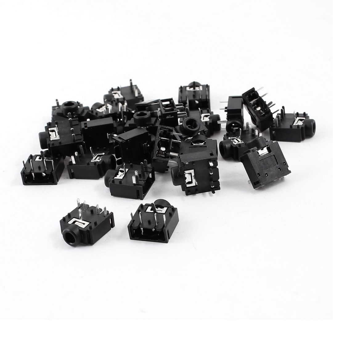 50 Pcs 5 Terminals PCB Mount 3.5mm Female Audio Stereo Jacks Connectors Socket