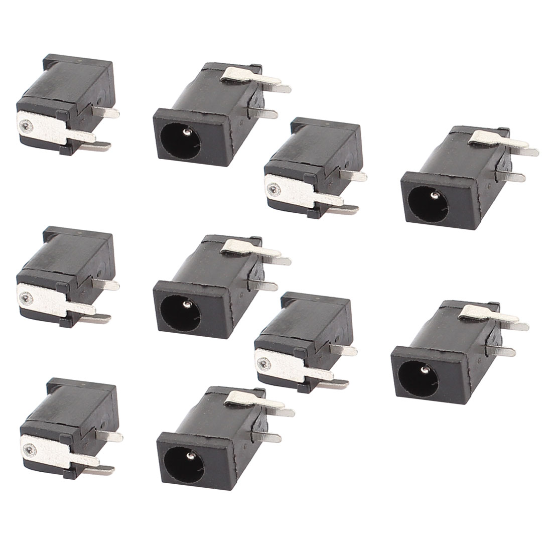 10 Pcs 3 Terminals 3.5mm x 1.3mm DC Power Jack Socket PCB Mount Charging Connector Port