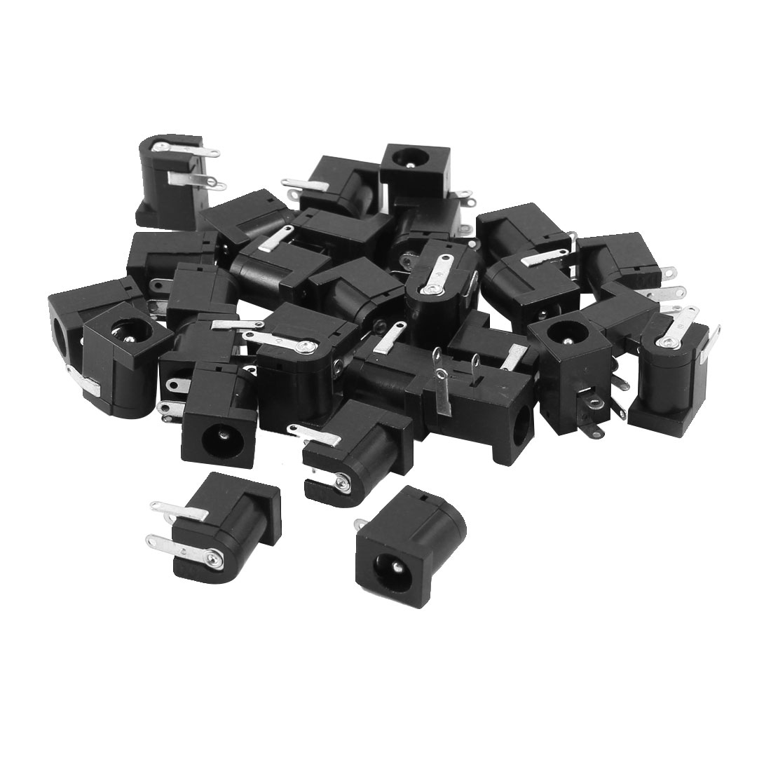 30 Pcs 3 Terminals 5.5mm x 2.1mm DC Power Jack Socket PCB Mount Charging Connector Port