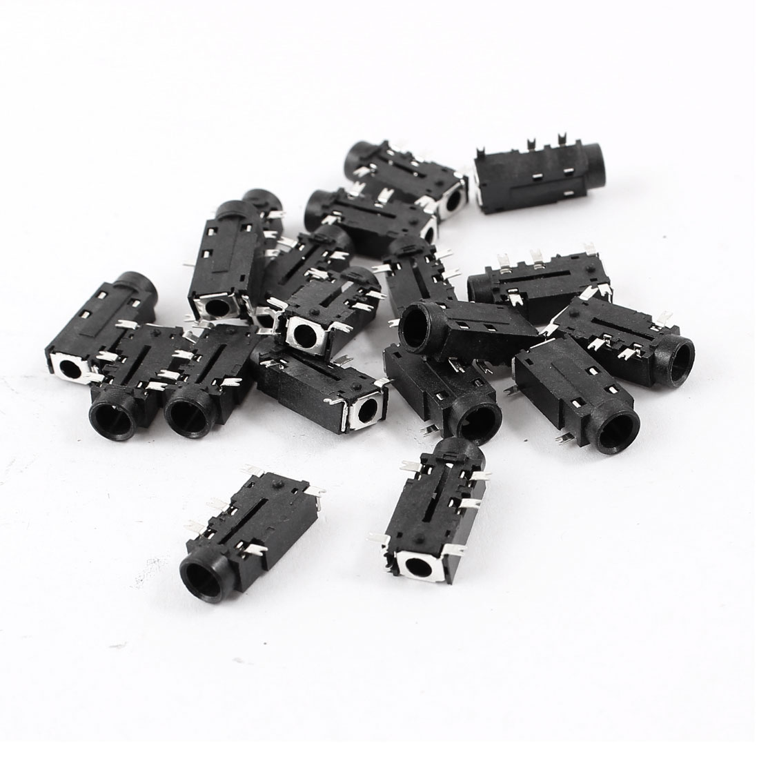 20 Pcs PCB Mount 5 Pin Terminals 3.5mm Female Stereo Audio Jack Connector