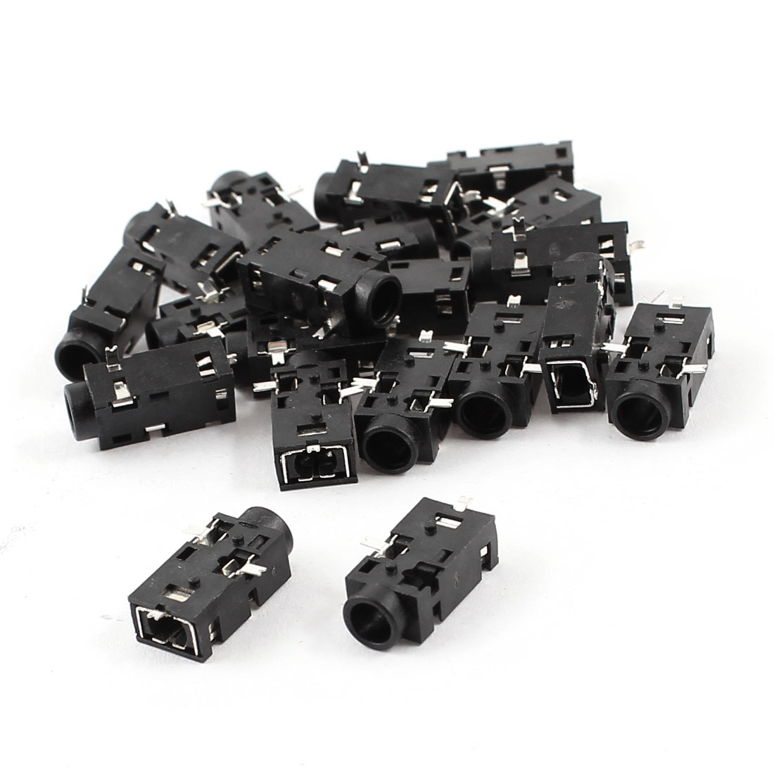 20 Pcs PCB Mount 3 Terminals 3.5mm Female Earphone Audio Jack Socket Connector