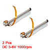 2PCS 82mm Long 68mmx3mm Shaft 10mm Diameter Stepper Motor Silver Tone