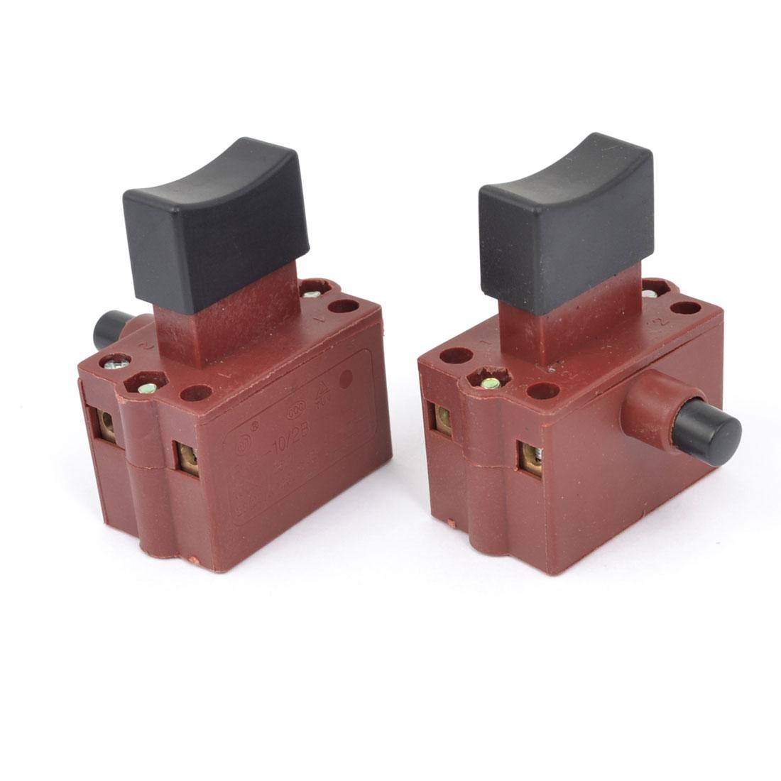 2pcs AC 250V 10A 125V 20A DPST Push Trigger Switch Electric Power Tool