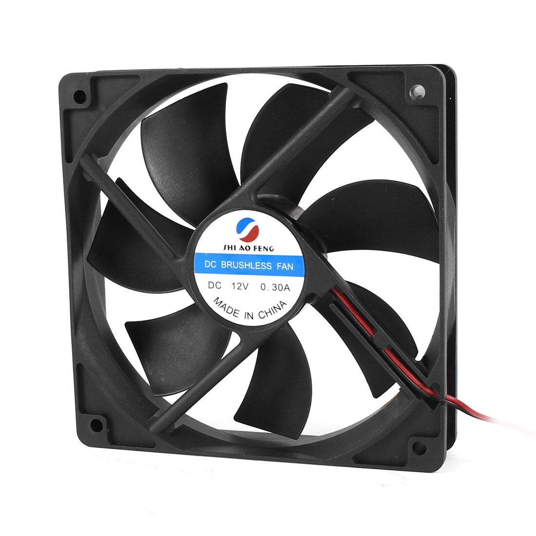 DC 12V 0.30A 120mm Brushless Cooling Fan Black for Computer Case CPU Cooler