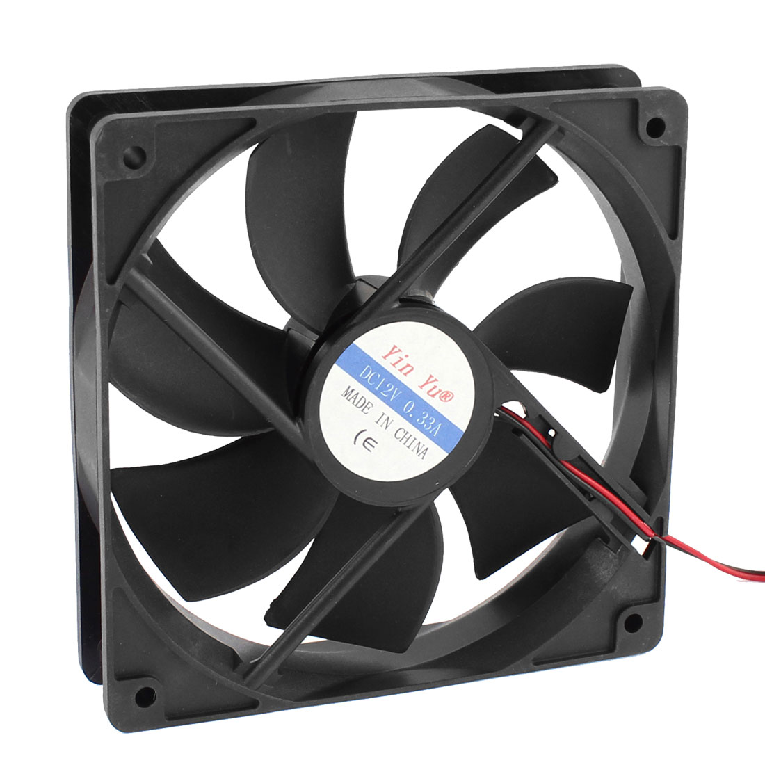 120mm DC 12V 0.33A 4-Pin Cooling Fan Black for Computer Cases CPU Cooler Radiator