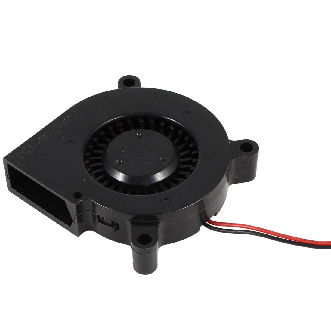 DC 12V 0.18A Brushless 2 Wires Cooling Blower Fan Cooler 6015S 60mmx15mm Black