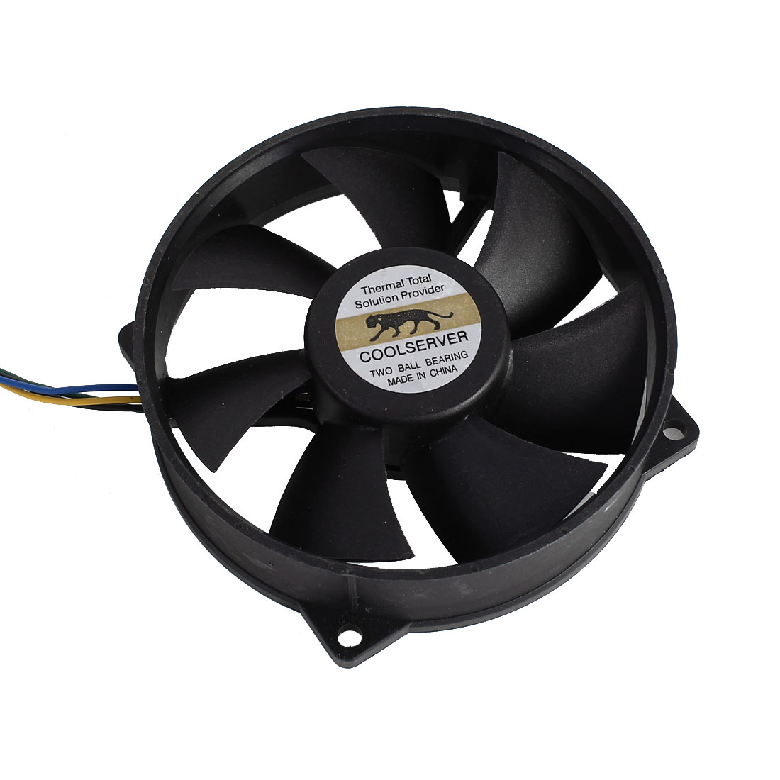 F129025BU 90mmx25mm DC12V 0.38A 4 Pins Computer Case CPU Cooler Cooling Fan Black