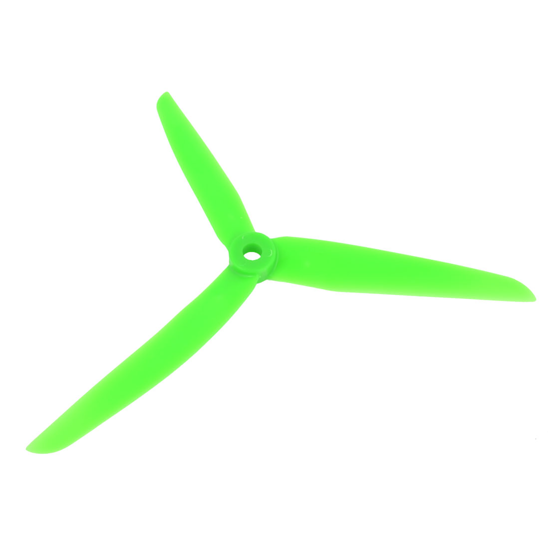 Green Plastic 3 Vanes Gas Engine Propeller Prop 7x3.5 for RC Airplane Aircraft