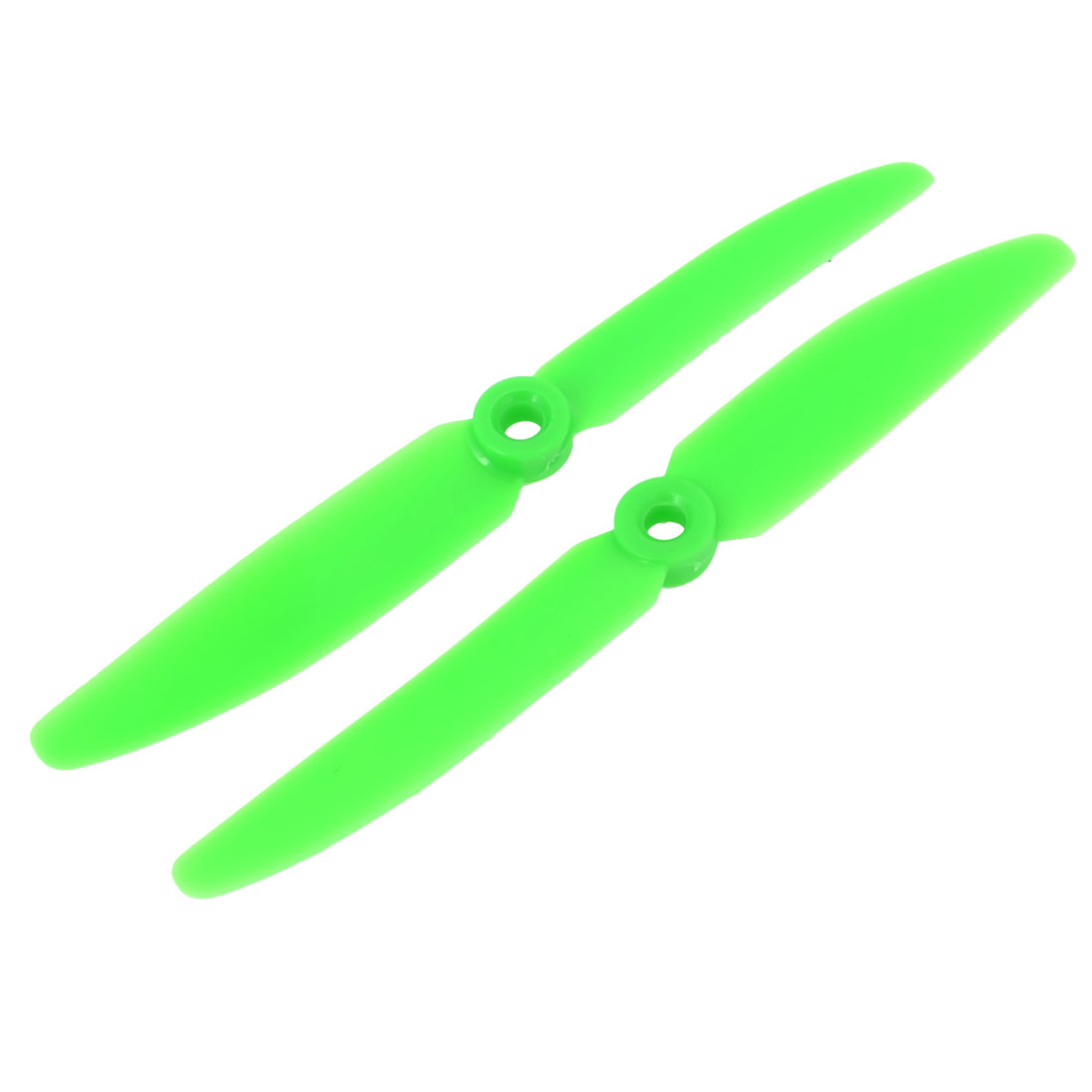 Pair Double Vanes 5x3 Green Plastic CW CCW RC Model Airplane Prop Propeller
