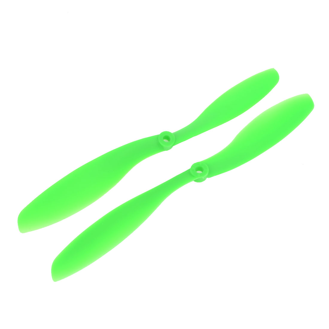 Pair Green 8x4.5 2-Vanes CW CCW Propeller for 5mm Shaft Dia RC Model Aircraft