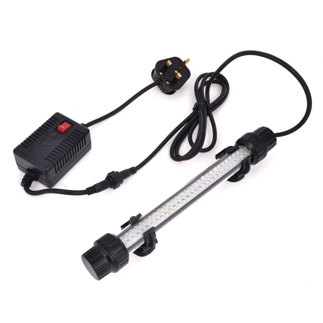 AC 220V-240V 2W Suction Cups 28cm Red Light 92 LEDs Aquarium Submersible Lamp UK Plug