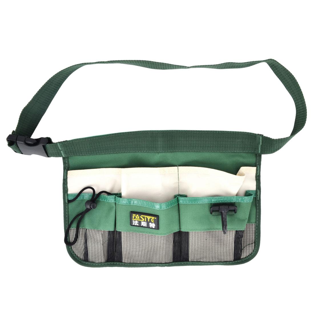 Release Buckle Green Nylon Oxford Gardens Tool Holder Waist Bag