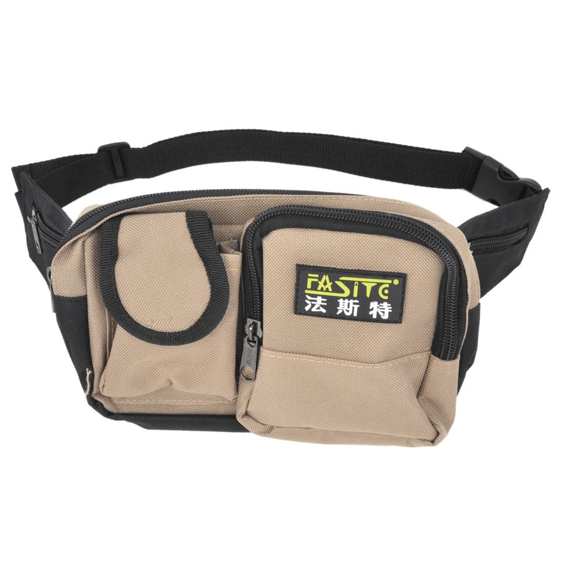 Zipper Closure Khaki Nylon Oxford Pliers Tool Holder Waist Bag