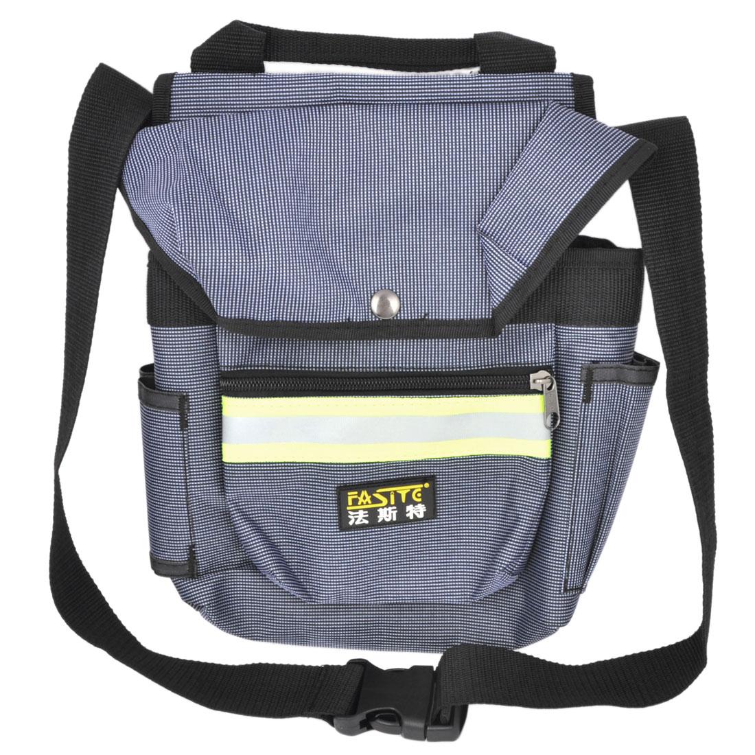 Blue Grid Printed Nylon Oxford Pliers Scissors Tool Holder Bag