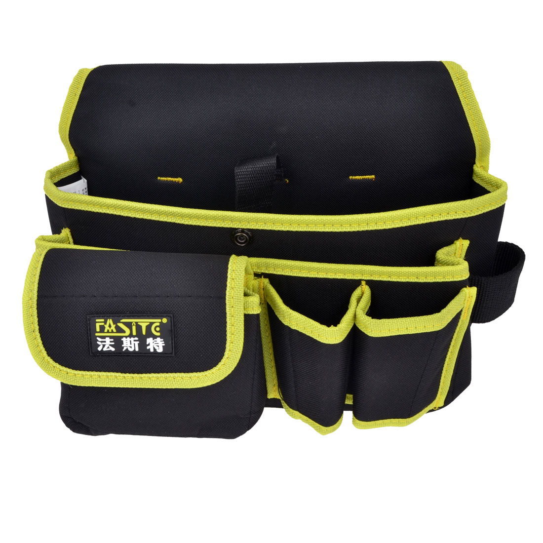 Black Yellow Canvas Electrician Tool Organizer Waist Bag Pouch