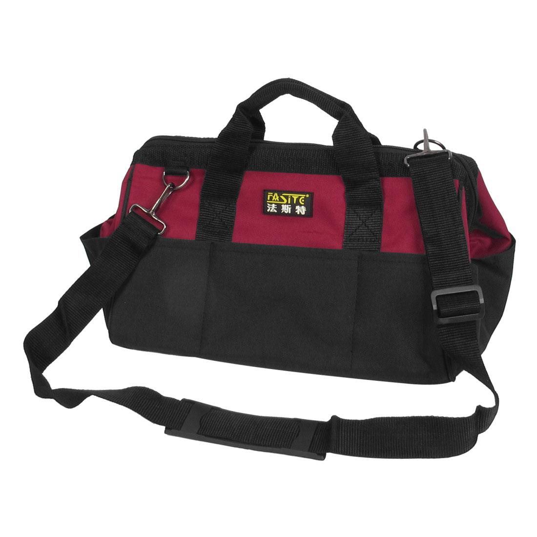 Black Red Nylon Oxford Pliers Voltmeter Tool Holder Hand Bag