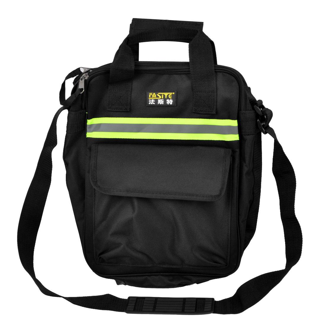 Black Nylon Oxford 4 Main Compartments Pliers Screwdriver Tool Holder Bag