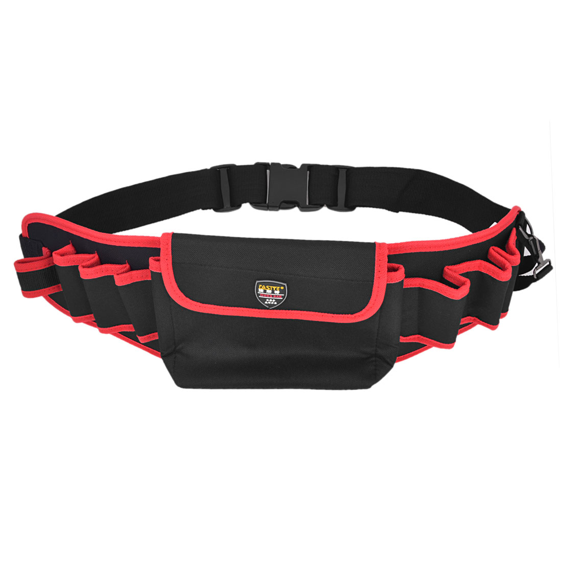 Black Red Canvas Pliers Scissors Orgnizer Tool Holder Waist Bag