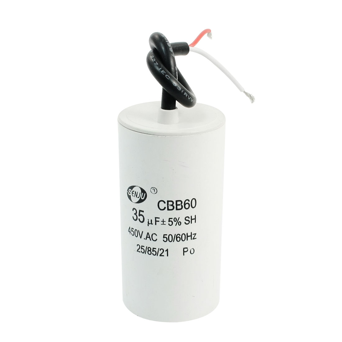 Wire Leads CBB60 AC 450V 35uF Polypropylene Capacitor for Appliance Motor