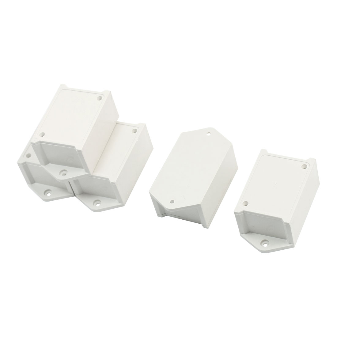 5pcs Gray Plastic Project Power Protector Case Junction Box 55x39x27mm