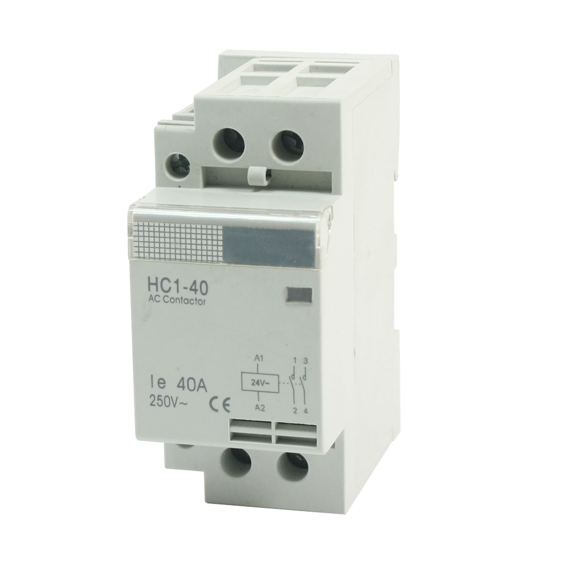 HC1-40 2Pole 35mm DIN Rail Mount Electric AC Contactor 24V Coil 40A