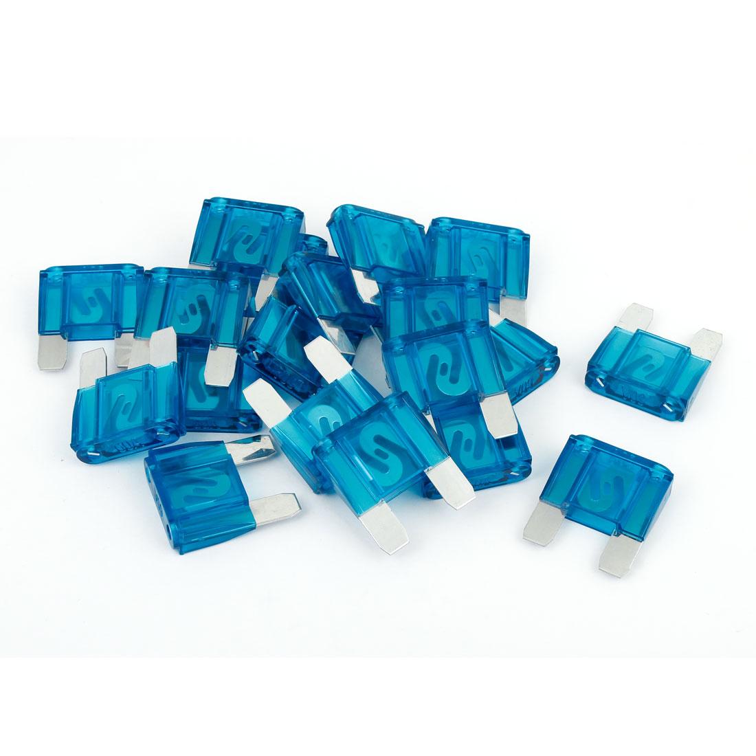 20 Pcs Car Auto Caravan Truck Blue Plastic Casing Large Blade Fuse 60A