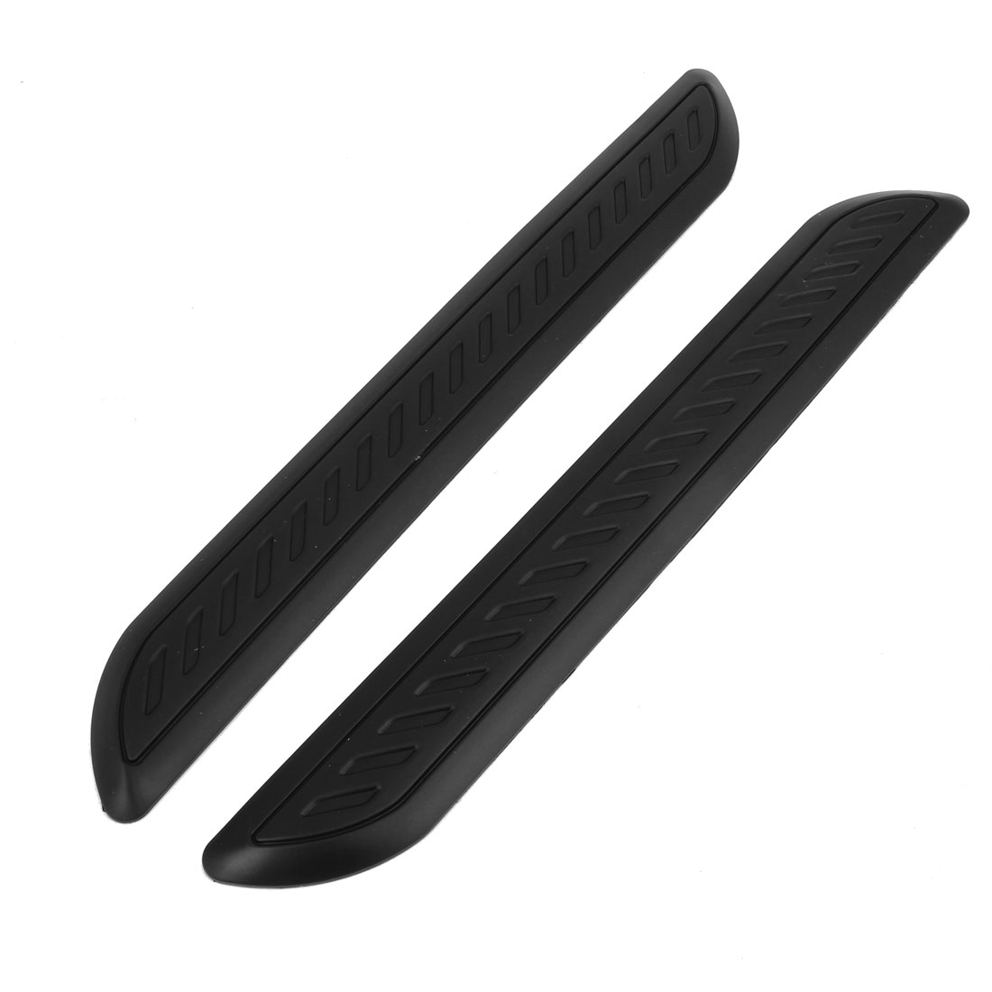 2 Pcs Black Rubber Adhesive Vehicle Car Edge Safety Bumper Guard Protector 41cm Long