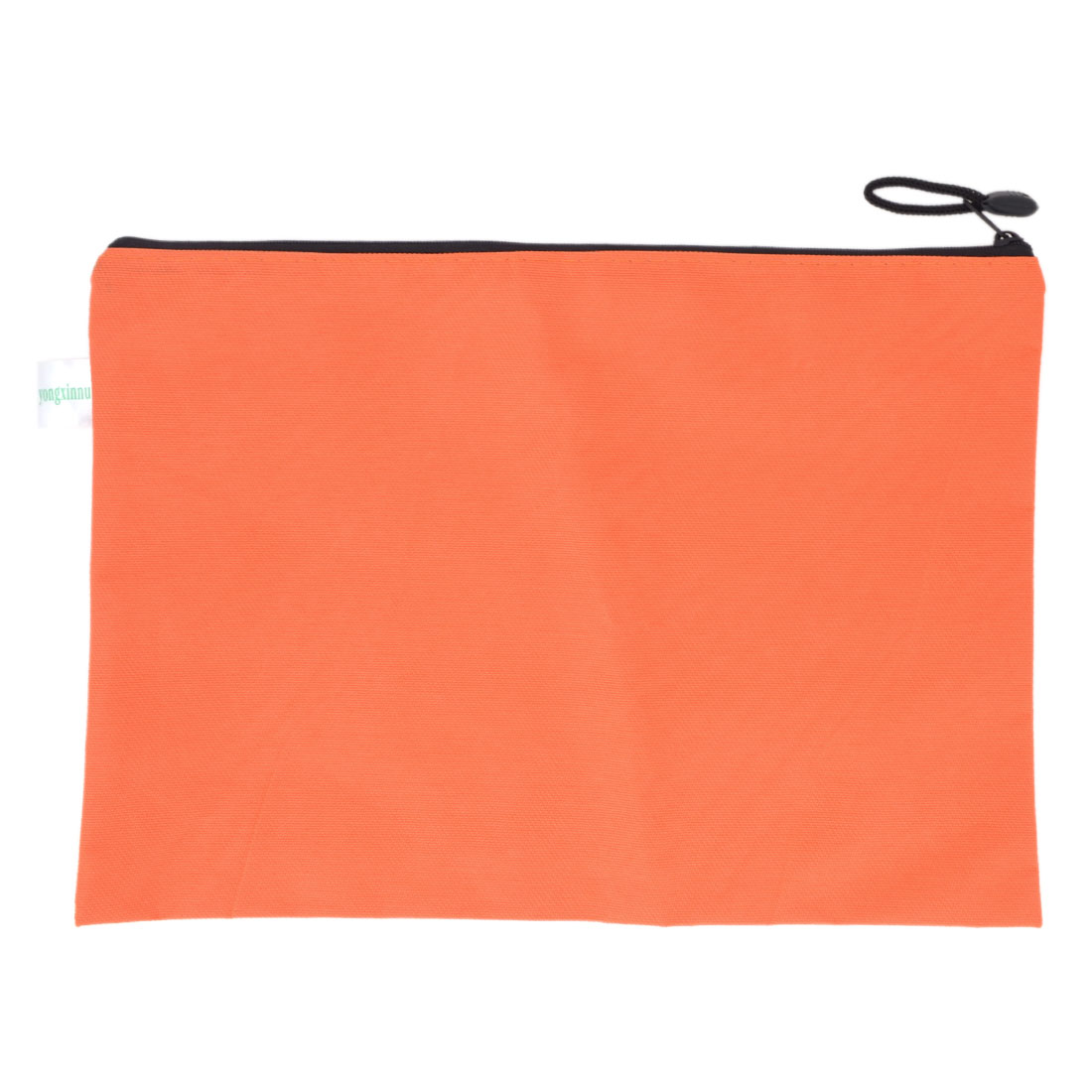 School Stationery Zipper Closure Dots Prints Straps Design Stationery A4 Paper File Document Holder Orange Red Nylon Bag