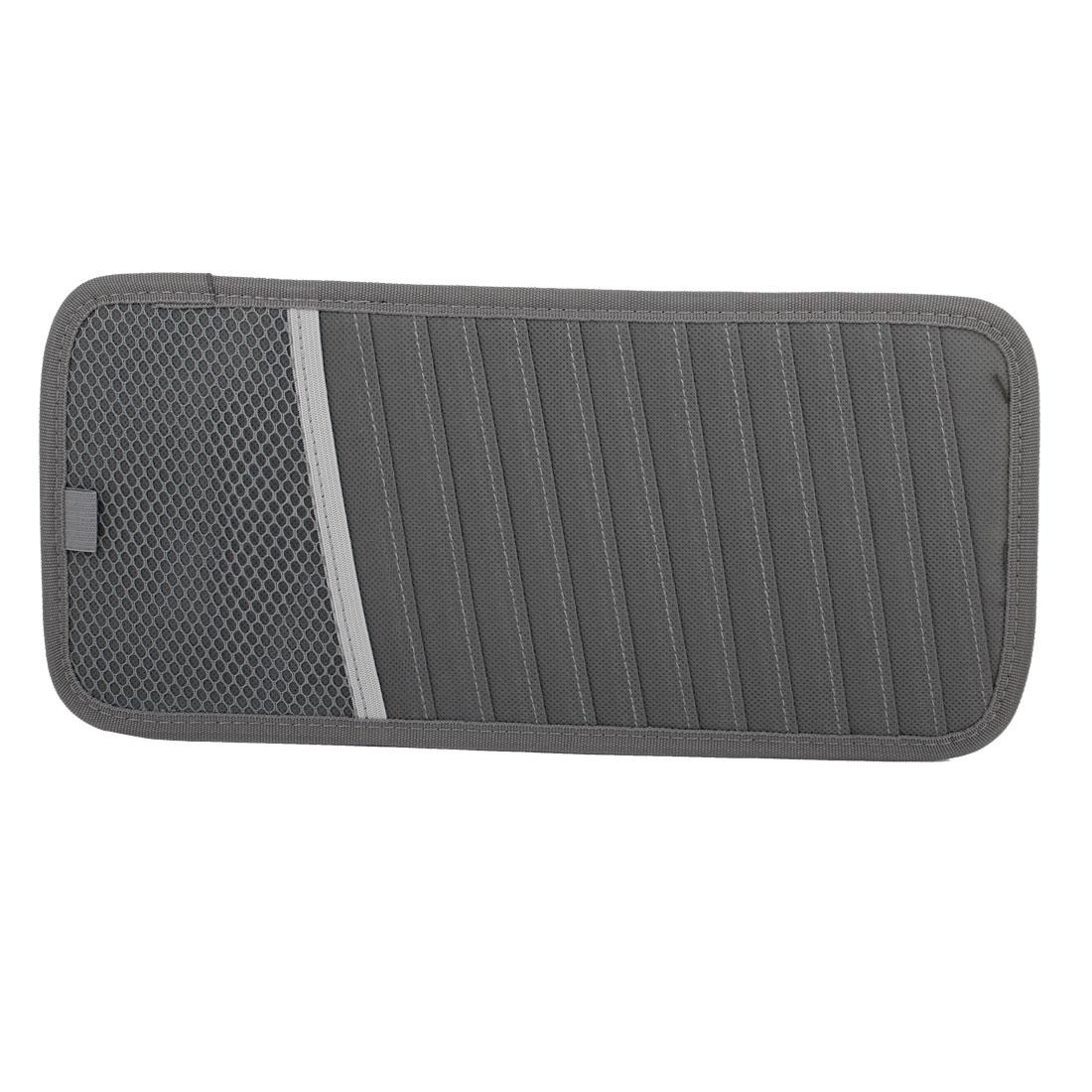 31cm x 15cm Vehicles Gray Sun Visor CD DVD Holder Case 12 Compartments