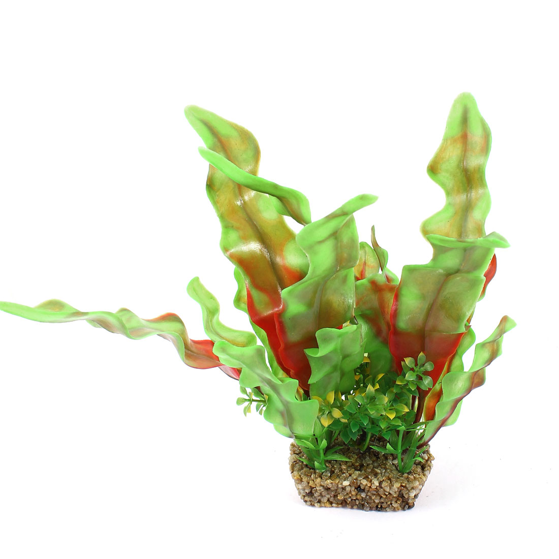 "Fish Tank Landscaping Plastic Aquatic Plant Green Red 8.9"" Height"