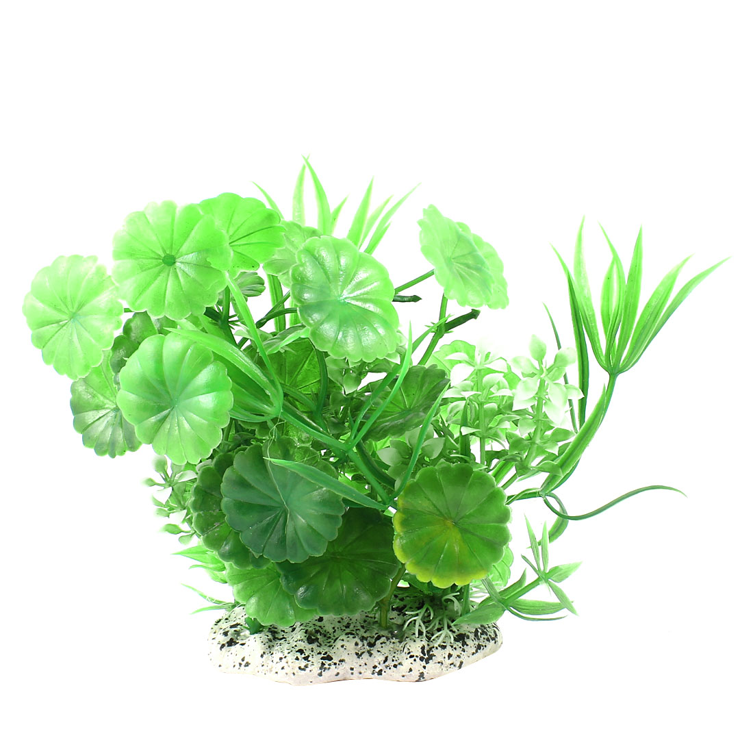 "Aquarium Landscaping Flower Detail Simulated Water Grass Green 5.5"" Height"