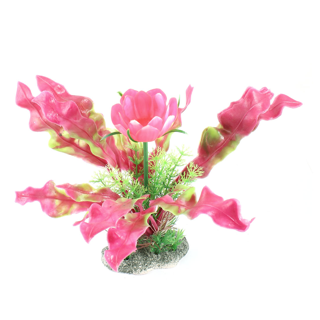 """Fish Tank Decor Flower Detail Simulated Water Plant Colorful 6.9"""" Height"""