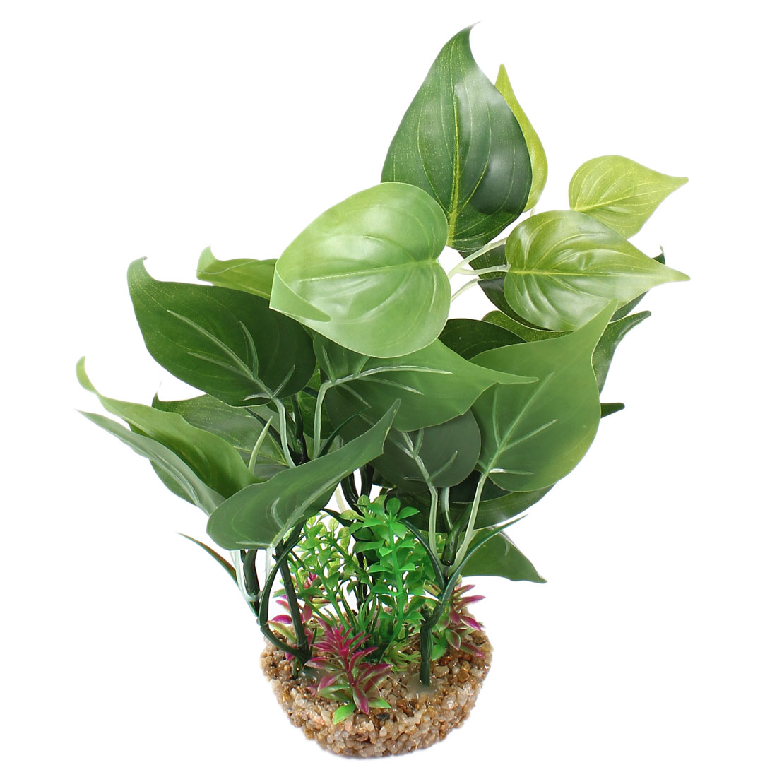 "Aquarium Landscaping Artificial Water Plant Green 10.2"" Height"