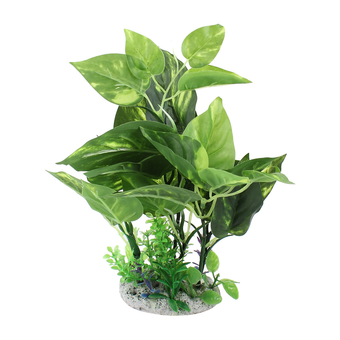 "Aquarium Ornament Artificial Plastic Water Plant Green 10.4"" Height"