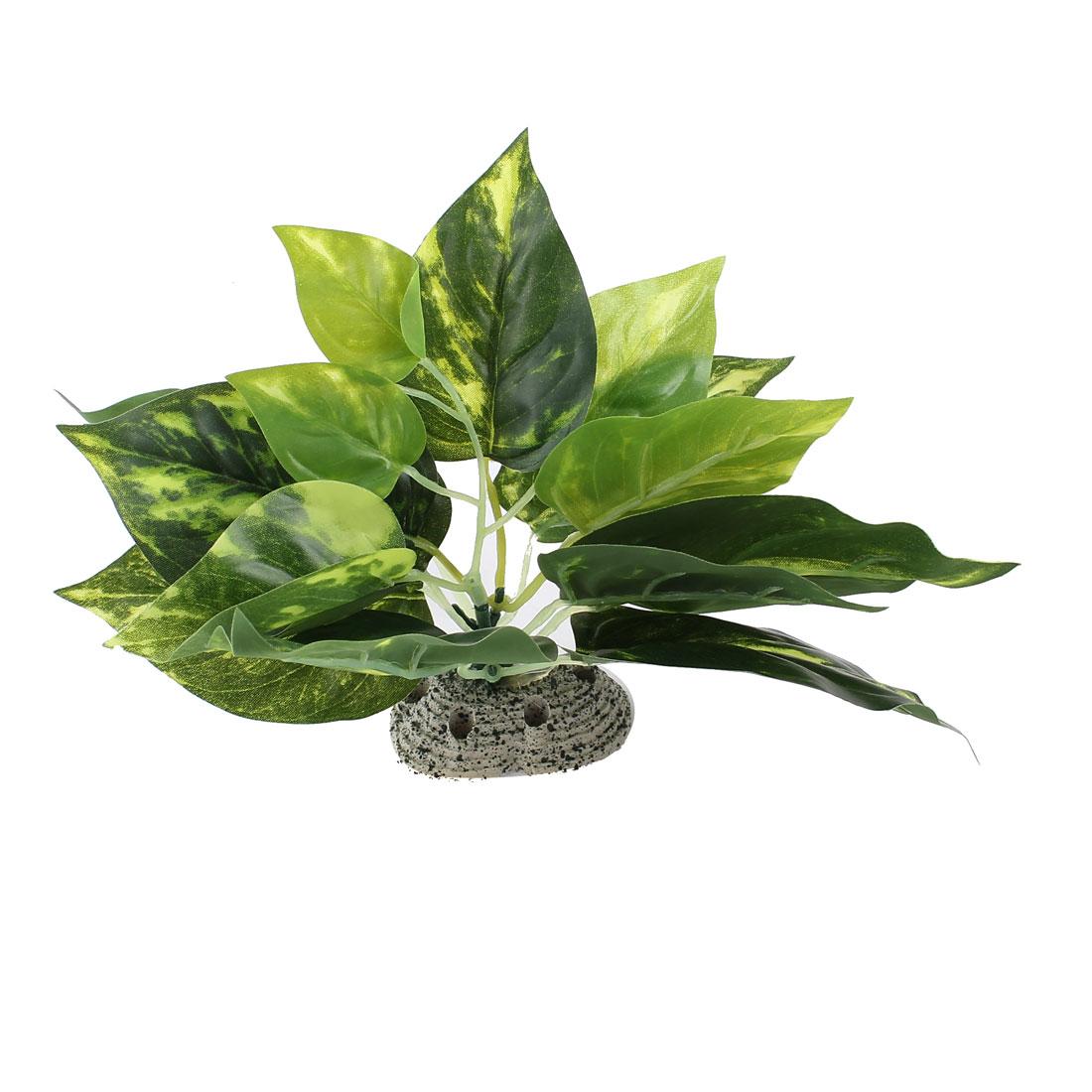 "Fish Tank Landscaping Ornamental Aquatic Plant Green 5.5"" Height"