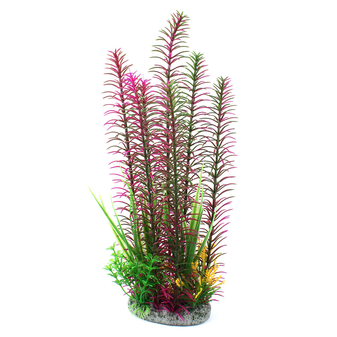 "Fish Tank Aquascaping Emulational Water Plant Fuchsia Green 13"" Height"
