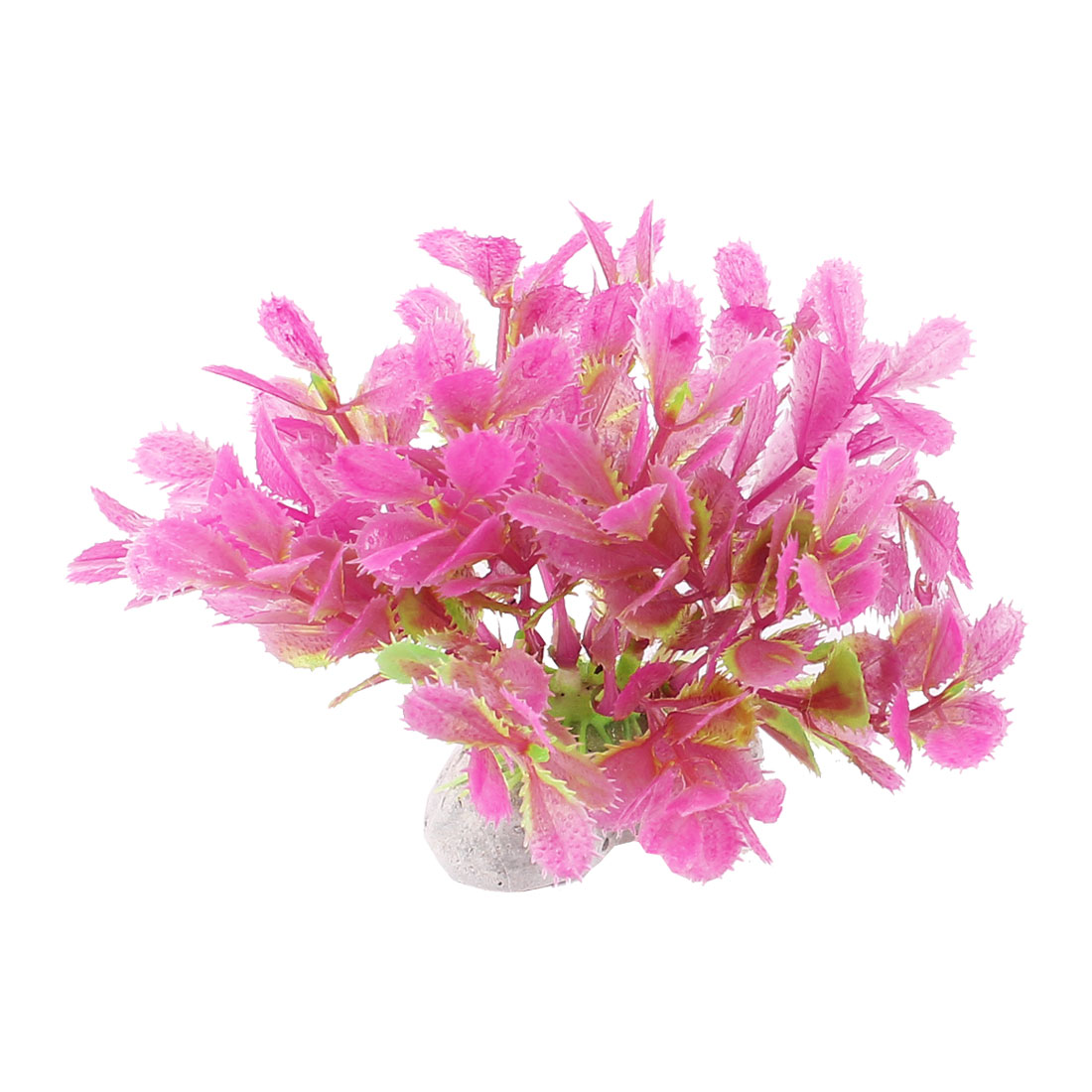 "Fish Tank Aquascaping Fuchsia Green Emulational Grass Plant 3.5"" High"