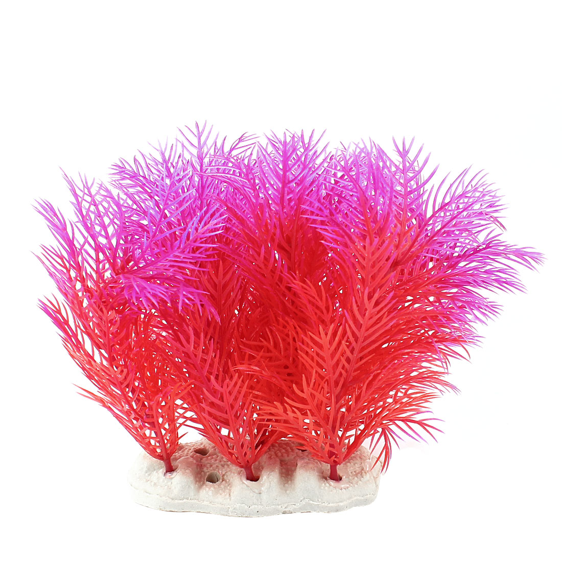 "Aquarium Emulational Aquatic Underwater Plant Fuchsia Red 4.7"" Height"
