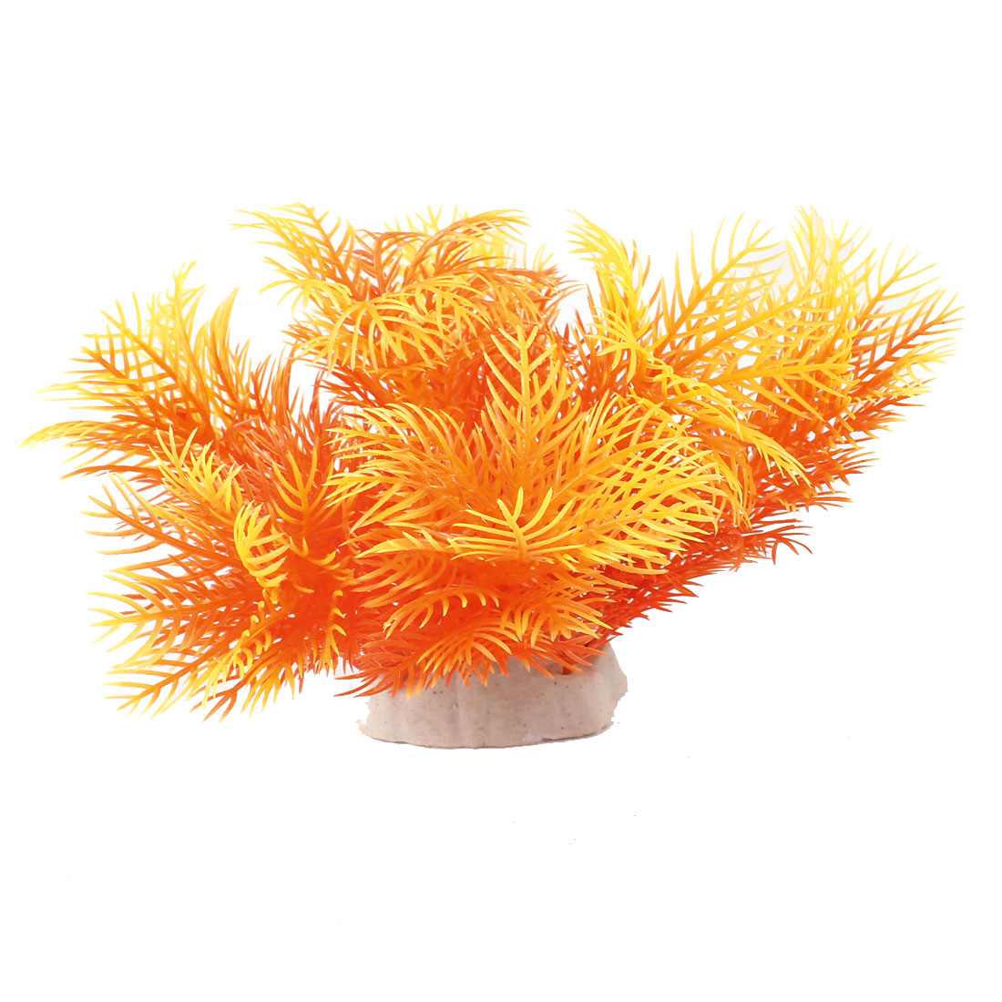 "Aquarium Emulational Aquatic Underwater Plant Orange Yellow 5.1"" Height"