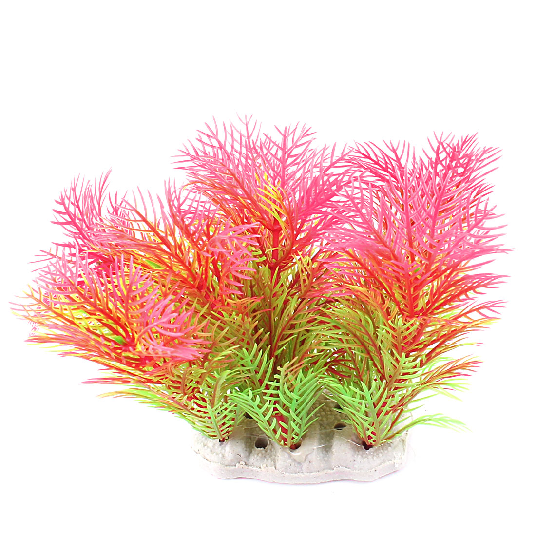"Aquarium Decor Emulational Aquatic Water Plant Red Green 4.3"" Height"