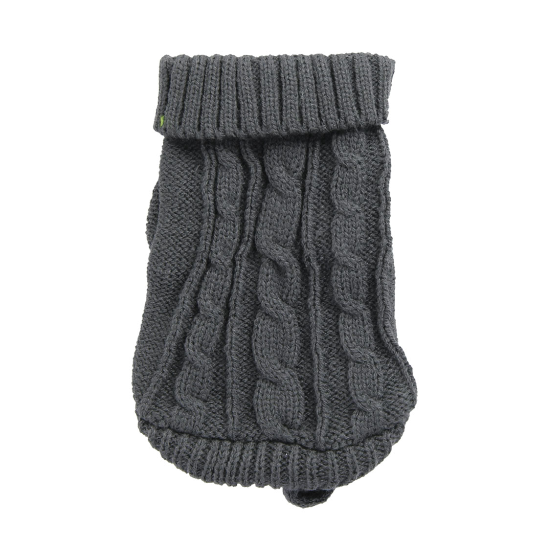 Pet Dog Chihuahua Gray Twisted Knit Ribbed Cuff Knitwear Apparel Sweater Size 4