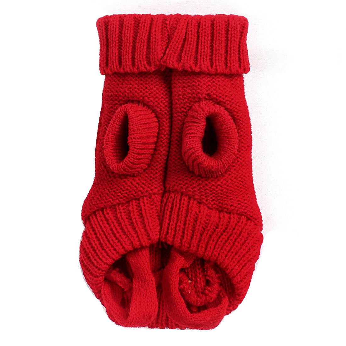 Pet Dog Doggie Red Twisted Knit Ribbed Cuff Knitwear Apparel Sweater Size XXS