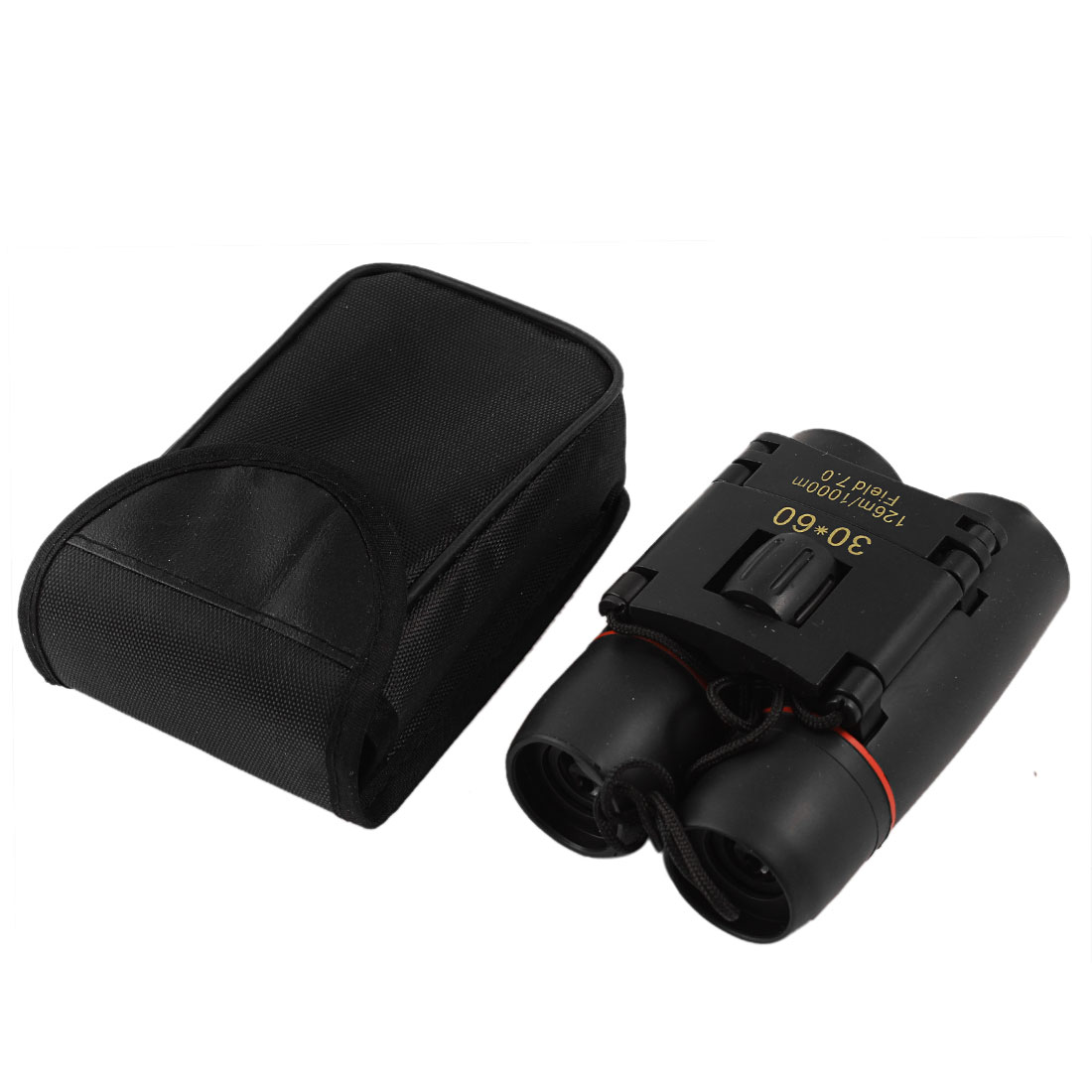 Red 23mm Objective Lens 30X Black Rubber Covered Binoculars Telescope