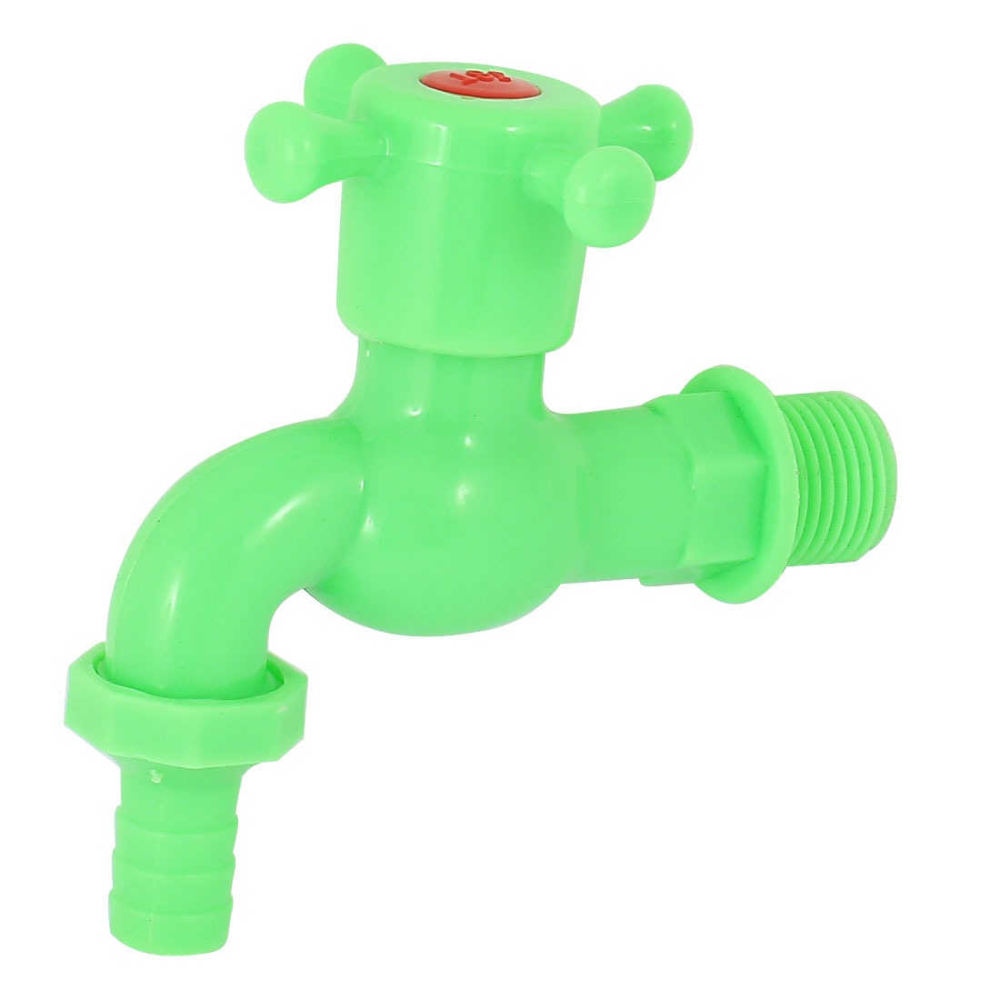 Home Kitchen Basin Sink Green Plastic Turn Handle Water Tap Faucet