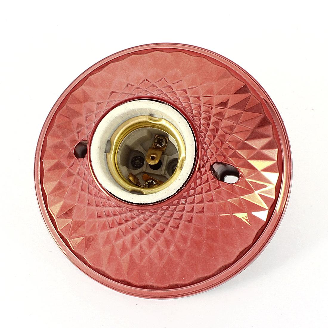 AC 250V 4A 11cm Dia Orange Red Plastic Housing E27 Screw Base Lamp Light Holder