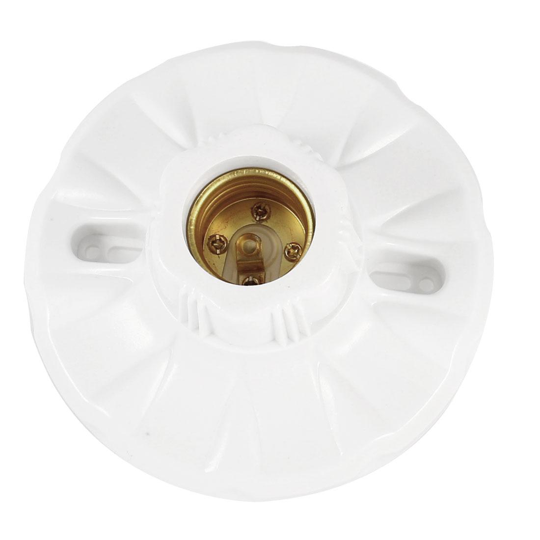 AC 250V 10A 12cm Dia White Plastic Housing E27 Bulb Lamp Light Screw Type Holder