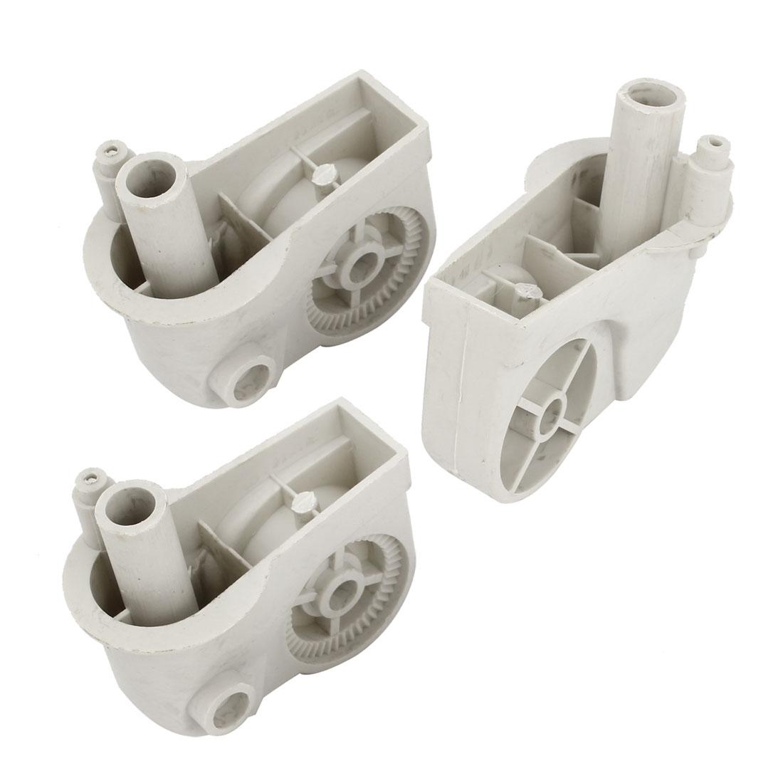 3PCS Gray Plastic Electric Fan Elbow Connectors 80mm x 44mm x 80mm
