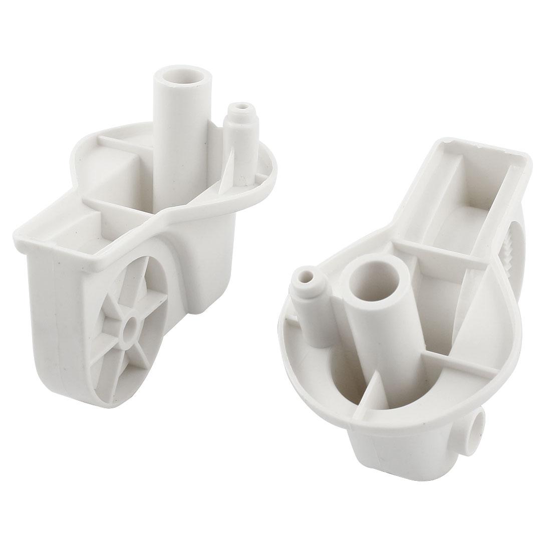 2PCS White Plastic Electric Fan Elbow Connectors 83mm x 55mm x 77mm
