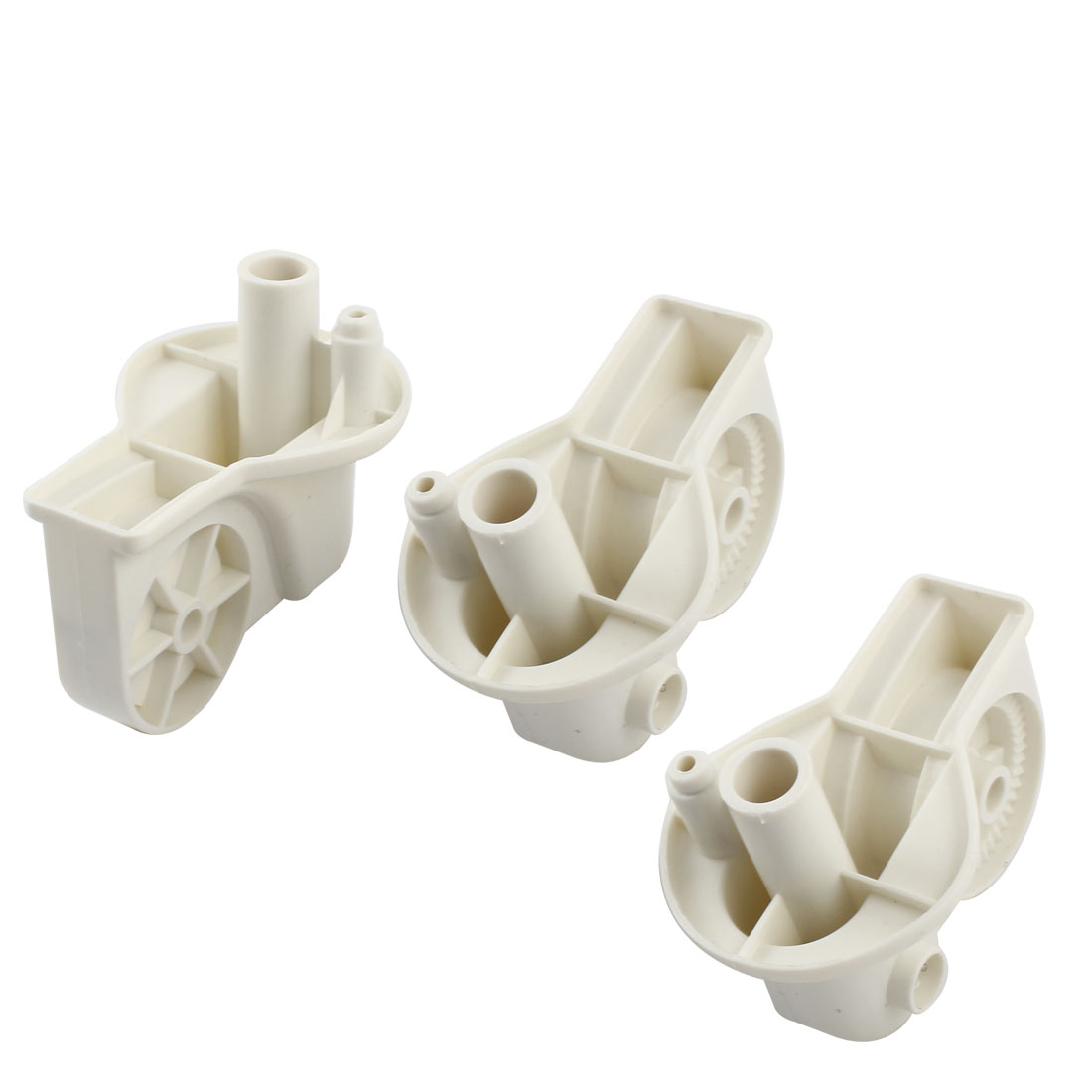 3PCS White Plastic Electric Fan Elbow Connectors 83mm x 55mm x 77mm